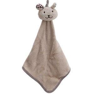 Babies FIRST BLANKET Soft Plush Fabric Lite Brown